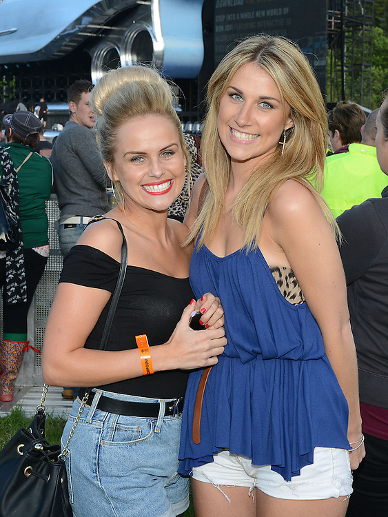 Louise Roche and Ciara Smyth pictured at the Bon Jovi concert at Slane Castle. Photo:Colin Bell/pressphotos.ie