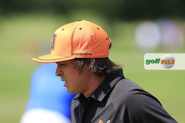 Rickie Fowler (USA) on the range during Sunday's Final Round of the 2013 Bridgestone Invitational WGC tournament held at the Firestone Country Club, Akron, Ohio. 4th August 2013.<br /> Picture: Eoin Clarke www.golffile.ie