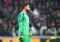 Calcio, Serie A: Juventus - Milan, Turin, Allianz Stadium, November 10, 2019.<br /> Milan's goalkeeper Gianluigi Donnarumma looks on during the Italian Serie A football match between Juventus and Milan at the Allianz stadium in Turin, November 10, 2019.<br /> UPDATE IMAGES PRESS/Isabella Bonotto
