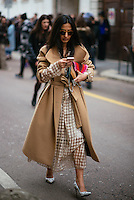 Nausheen Shah at Milan Fashion Week (Photo by Hunter Abrams/Guest of a Guest)