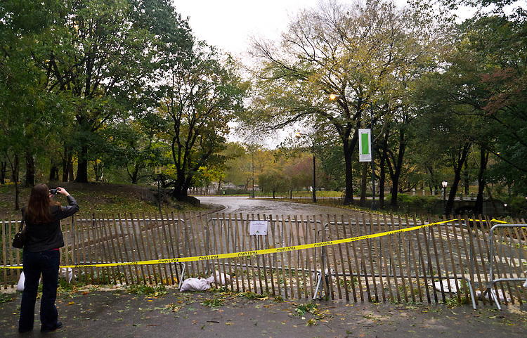 NEW YORK - OCTOBER 30:  2012 Devastation visible in Central Park one day after Hurricane Sandy October 30, 2012 in New York City. (Photo by Donald Bowers )