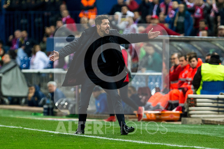 Atletico de Madrid's coach Diego Pablo Cholo Simeone during the match of UEFA Champions League between Atletico de Madrid and FC Rostov, at Vicente Calderon Stadium,  Madrid, Spain. November 01, 2016. (ALTERPHOTOS/Rodrigo Jimenez)