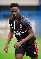 Lincoln City's Jordan Adebayo-Smith during the pre-match warm-up<br /> <br /> Photographer Chris Vaughan/CameraSport<br /> <br /> Football Pre-Season Friendly (Community Festival of Lincolnshire) - Lincoln City v Lincoln United - Saturday 6th July 2019 - The Martin & Co Arena - Gainsborough<br /> <br /> World Copyright © 2018 CameraSport. All rights reserved. 43 Linden Ave. Countesthorpe. Leicester. England. LE8 5PG - Tel: +44 (0) 116 277 4147 - admin@camerasport.com - www.camerasport.com