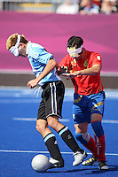 04.09.2012.  London, England. David Peralta (ARG) in action during the Men's Football 5-a-side Preliminaries Pool A match between Spain and Argentina during Day 6 of the London Paralympics from the Riverbank Arena
