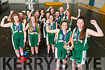 Mery Mounthawk 1st year girls won the all Ireland basketball title in Dublin on Tuesday. Pictured captains Ciara Ryan, Rachel Ryan with the team Lucy O'Carroll, Elle McElligott,, Catherine Belyakov, Alison O'Leary  Amanda Brosnan Sarah Healy, Mairead Carney, Ciara McCarthy, Rebecca Conway, Méabh McElligott, Isabelle Lynch, Renée Brosnan, Caoimhe Edwards
