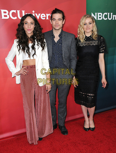 17 January 2017 - Pasadena, California - Stella Maeve, Jason Ralph, Olivia Taylor Dudley. 2017 NBCUniversal Winter Press Tour held at the Langham Huntington Hotel. <br /> CAP/ADM/BT<br /> &copy;BT/ADM/Capital Pictures