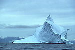 Iceberg off north coast of Baffin Island, Nunavut, Canada