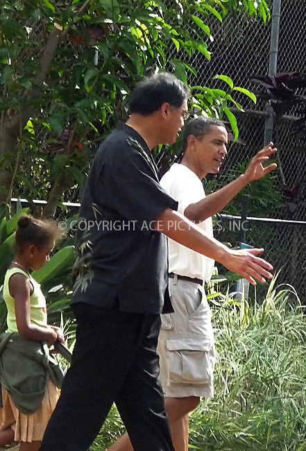 WWW.ACEPIXS.COM ************....EXCLUSIVE - ALL ROUNDER....December 30 2008, Hawaii....President elect Barak Obama took his members of his family to Honolulu Zoo on December 30 2008 in Hawaii.....Please byline: POPPY VAUGHAN - ACEPIXS.COM.. *** ***  ..Ace Pictures, Inc:  ..tel: (646) 769 0430..e-mail: info@acepixs.com..web: http://www.acepixs.com