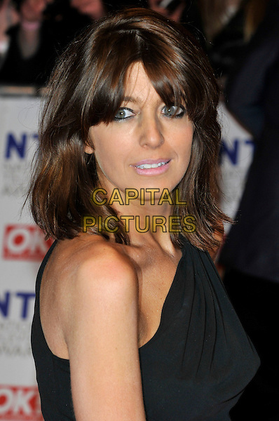 CLAUDIA WINKLEMAN .The 15th National Television Awards held at the O2 Arena, London, England..January 20th, 2010.NTA NTAs headshot portrait black one shoulder .CAP/PL.©Phil Loftus/Capital Pictures.