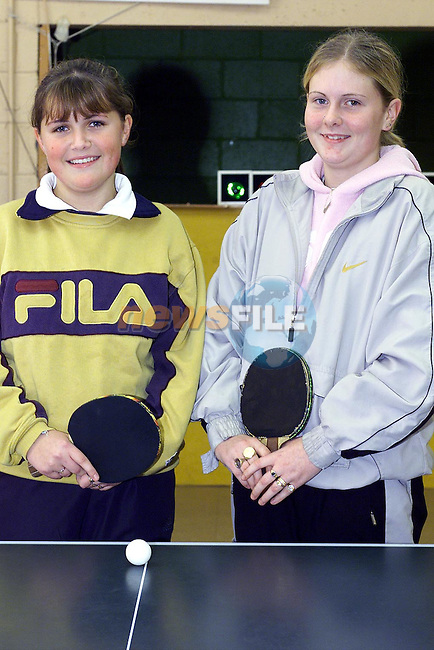 Lisa Marie Kierans and Emma Monahan who took part in the Girls Grade 2 Final..Picture: Paul Mohan/Neswfile