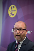 Party leader Paul Nuttall, UKIP election manifesto launch, Westminster, London.