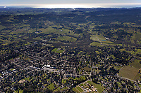 aerial photograph of Sebastopol to the Pacific Ocean, Sonoma County, California