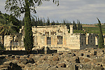 Israel, Sea of Galilee, the ancient Synagogue in Capernaum