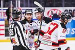 S&ouml;dert&auml;lje 2014-01-06 Ishockey Hockeyallsvenskan S&ouml;dert&auml;lje SK - Malm&ouml; Redhawks :  <br />  Malm&ouml; Redhawks Joey Tenute och Malm&ouml; Redhawks Jens Olsson firar efter Malm&ouml; Redhawks Daniel Viksten gjort 1-0<br /> (Foto: Kenta J&ouml;nsson) Nyckelord:  jubel gl&auml;dje lycka glad happy