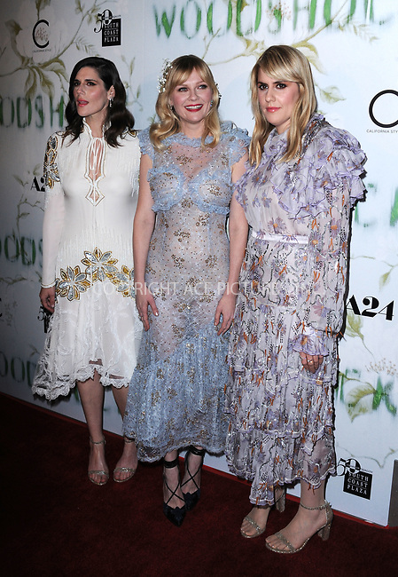 www.acepixs.com<br /> <br /> September 18 2017, LA<br /> <br /> (L-R)  Director Laura Mulleavy, Kirsten Dunst and Director Kate Mulleavy arriving at the premiere of 'Woodshock' at the ArcLight Cinemas on September 18, 2017 in Hollywood, California<br /> <br /> By Line: Peter West/ACE Pictures<br /> <br /> <br /> ACE Pictures Inc<br /> Tel: 6467670430<br /> Email: info@acepixs.com<br /> www.acepixs.com
