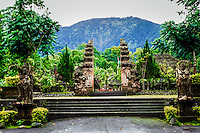 Bali, Tabanan, Batukau. The Pura Luhur Batukau temple sits on the slopes of Gunung Batukau.