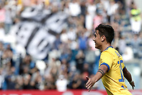 Calcio, Serie A: Reggio Emilia, Mapei stadium, 17 settembre 2017.<br /> Juventus' Paulo Dybala celebrates after scoring for the second time during the Italian Serie A football match between Sassuolo and Juventus at Reggio Emilia's Mapei stadium, September 17, 2017.<br /> UPDATE IMAGES PRESS/Isabella Bonotto