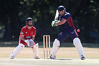 Hassan Chowdhury in batting action for Wanstead during Wanstead and Snaresbrook CC vs Hornchurch CC, Shepherd Neame Essex League Cricket at Overton Drive on 30th June 2018