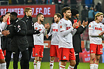 30.11.2019, Rheinenergiestadion, Köln, GER, DFL, 1. BL, 1. FC Koeln vs FC Augsburg, DFL regulations prohibit any use of photographs as image sequences and/or quasi-video<br /> <br /> im Bild Schlussjubel / Schlußjubel / Emotion / Freude / die Mannschaft von Koeln<br /> <br /> Foto © nordphoto/Mauelshagen