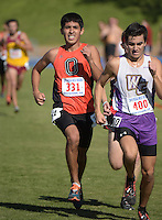 Nov 14, 2015; Claremont, CA, USA; Jovani Barajas of Occidental runs during the 2015 NCAA Division III West Regionals cross country championships at Pomona-Pitzer College. (Freelance photo by Kirby Lee)