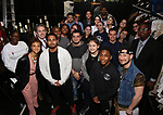 """Syndee Winters, James Basker, President of the Gilder Lehrman Institute and Roddy Kennedy with student performers attend The Rockefeller Foundation and The Gilder Lehrman Institute of American History sponsored High School student #EduHam matinee performance of """"Hamilton"""" at the Richard Rodgers Theatre on 3/15/2017 in New York City."""