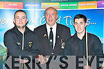 Benny O'Brien, Stanley McKown (Ref) and Ryan Cronin who competed at the Alex Higgins memorial snooker tournament in the INEC Killarney on Sunday..