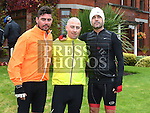 Keith Crilly, Stephen Garry and Gary Kelly before the start of the Enda Collins Memorial cycle to Galway to raise funds for the Gary Kelly Cancer Support Centre. Photo:Colin Bell/pressphotos.ie