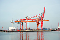 Cranes at Avonmouth Docks.