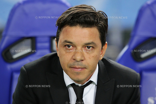 Marcelo Gallardo (River Plate), DECEMBER 16, 2015 - Football / Soccer : Head Coach Marcelo Gallardo of River Plate looks on prior to the 2015 FIFA Club World Cup semi-final match between Sanfrecce Hiroshima and River Plate at Nagai Stadium Osaka in Osaka, Japan (Photo by AFLO)