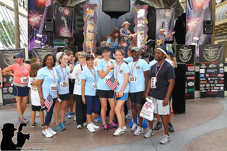 911 remembering run walk on Fremont Street in Las Vegas
