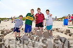 Family fun day at Ballinskelligs Beach on Saturday pictured here some of the builders of the future with their entry into the sand castle building competition were l-r; Arda?n O'Connor, Jack O'Connor, Padraic O'Connell & Aaran O'Connor.