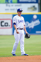 Chattanooga Lookouts shortstop Corey Seager (12) on defense against the Montgomery Biscuits at AT&T Field on July 23, 2014 in Chattanooga, Tennessee.  The Lookouts defeated the Biscuits 6-5. (Brian Westerholt/Four Seam Images)
