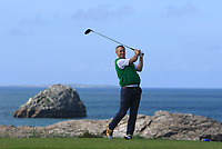Ger Deegan (Tralee) on the 4th tee during the Munster Final of the AIG Barton Shield at Tralee Golf Club, Tralee, Co Kerry. 12/08/2017<br /> Picture: Golffile | Thos Caffrey<br /> <br /> <br /> All photo usage must carry mandatory copyright credit     (&copy; Golffile | Thos Caffrey)