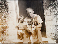 BNPS.co.uk (01202 558833)<br /> Pic: Collect/BNPS<br /> <br /> Ted Ingram with his daughter Valerie and dog Laddie in 1957.<br /> <br /> The world's oldest paperboy is planning his last round after 71 years of delivering his beloved local newspaper.<br /> <br /> Tireless Ted Ingram, 93, took up the part-time job when he was just 22 as an additional income but loved it so much he never gave it up.<br /> <br /> During his career he has dropped more than 500,000 newspapers through letterboxes in the village of Winterborne Monkton, near Dorchester, Dorset.
