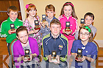 HONOURS: Young athletes with Milltown-Listry Community Games who were honoured for their achievements at Listry Community Centre last week, front l-r: Lorna McCarthy, Tadhg McCarthy, Mckella Daly. Back l-r: Seamus Giles, Abigail Gallagher, Ruairi Murphy, Mairead Lehane, Daire Murphy.