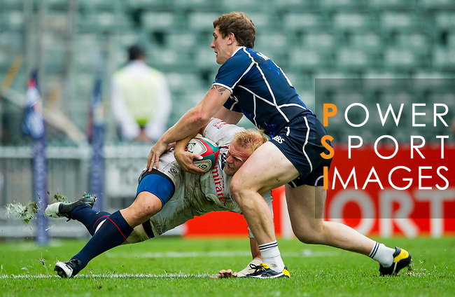 Scotland play United States in the Bowl Quarter Final on Day 3 of the Cathay Pacific / HSBC Hong Kong Sevens 2013 on 24 March 2013 at Hong Kong Stadium, Hong Kong. Photo by Xaume Olleros / The Power of Sport Images