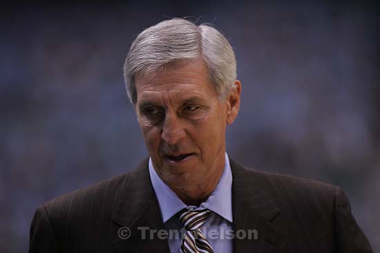 Salt Lake City - Jazz coach Jerry Sloan. Utah Jazz vs. San Antonio Spurs, Western Conference Finals game three at EnergySolutions Arena..5.26.2007