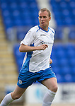 St Johnstone v Hearts...03.08.14  Steven Anderson Testimonial<br /> Saints trialist David Clarkson<br /> Picture by Graeme Hart.<br /> Copyright Perthshire Picture Agency<br /> Tel: 01738 623350  Mobile: 07990 594431