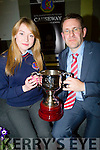Megan Lynch who was the overall student of the year as she was presented with her award from principal Cathal Fitzgerald on Thursday evening at her school