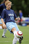 09 October 2005: North Carolina's Lori Chalupny. The Duke Blue Devils defeated the #1 ranked Carolina Tar Heels 2-1 at Fetzer Field in Chapel Hill, North Carolina in a regular season Atlantic Coast Conference women's soccer game.