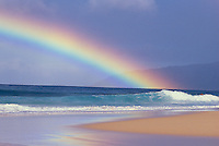 Rainbow over sea, leeward coast