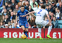 Bolton Wanderers' Craig Noone competing with Leeds United's Luke Ayling <br /> <br /> Photographer Andrew Kearns/CameraSport<br /> <br /> The EFL Sky Bet Championship - Leeds United v Bolton Wanderers - Saturday 23rd February 2019 - Elland Road - Leeds<br /> <br /> World Copyright © 2019 CameraSport. All rights reserved. 43 Linden Ave. Countesthorpe. Leicester. England. LE8 5PG - Tel: +44 (0) 116 277 4147 - admin@camerasport.com - www.camerasport.com