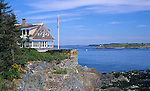 Eagle Island, home of Robert E Peary, discoverer of the North Pole, Harpswell, Maine, USA