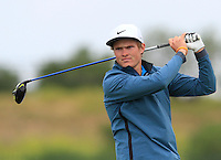 Andreas Halvorsen (NOR) on the 1st tee during Round 1 of the Challenge de Madrid, a Challenge  Tour event in El Encin Golf Club, Madrid on Wednesday 22nd April 2015.<br /> Picture:  Thos Caffrey / www.golffile.ie