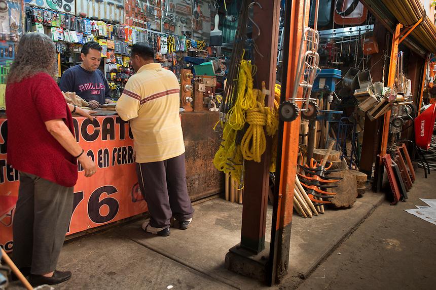 Gumesindo Zacatenco Ornelas y su madre Desideria Ornelas Campos. Hardware store owners in San Juan Pantitlán, Nezahualcoyotl, DF,  Mexico