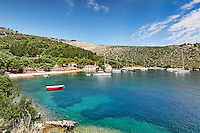 Sailing boats at Agia Sofia & Plati Limani in Kefalonia island, Greece