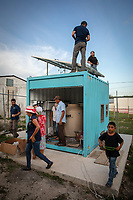 Calakmul area; Mexico sept 2019.The boys of an American NGO installs a revolutionary water purification system that will prevent the population from contracting interstinal diseases from the intake of dirty water, contaminated with pesticides or rainwater Calakmul is located in the south of the Yucatan peninsula, just above the Mexico/Guatemala border.The impact of climate change on farmer livelihoods is crucial. The conditions indicate one of the most extreme droughts of the last 20 years in Yucatán, as high temperatures prevail, which causes most of the territory to be very dry, as a result of the lack of rain.; Mexico sept 2019. Calakmul is located in the south of the Yucatan peninsula, just above the Mexico/Guatemala border.The impact of climate change on farmer livelihoods is crucial. The conditions indicate one of the most extreme droughts of the last 20 years in Yucatán, as high temperatures prevail, which causes most of the territory to be very dry, as a result of the lack of rain.