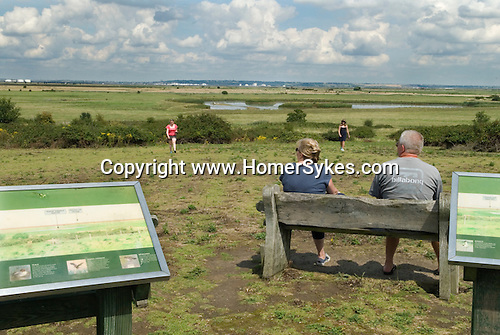 RSPB. The  Royal Society for the Preservation of Birds, visitors site Northward Hill. Cooling marshes. Thames gateway.