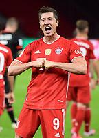 04.07.2020, Fussball DFB Pokal Finale, Bayer 04 Leverkusen - FC Bayern Muenchen emspor, Robert Lewandowski (FC Bayern Muenchen) celebrate the goal, Der Torjubel zum 1:4<br /> <br /> Foto: Kevin Voigt/Jan Huebner/Pool/Marc Schueler/Sportpics.de<br /> <br /> (DFL/DFB REGULATIONS PROHIBIT ANY USE OF PHOTOGRAPHS as IMAGE SEQUENCES and/or QUASI-VIDEO - Editorial Use ONLY, National and International News Agencies OUT)