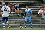 28 August 2016: North Carolina's Nico Melo. The University of North Carolina Tar Heels hosted the Saint Louis University Billikens at Fetter Field in Chapel Hill, North Carolina in a 2016 NCAA Division I Men's Soccer match. UNC won the game 3-0.